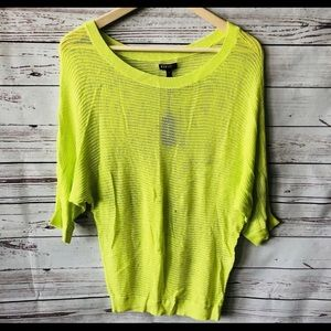 Express Lime Green Dolman Sweater!  NWT small